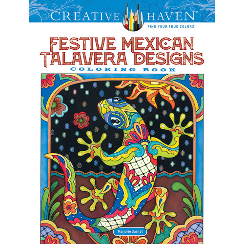 DOVER PUBLICATIONS COLORING BOOK: FESTIVE MEXICAN TALAVERA