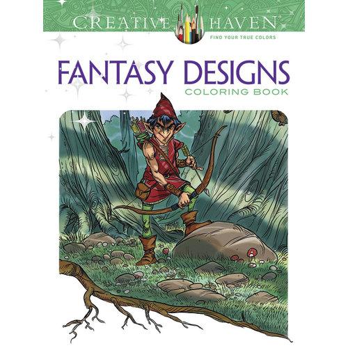 DOVER PUBLICATIONS COLORING BOOK: FANTASY DESIGNS