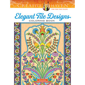 DOVER PUBLICATIONS COLORING BOOK: ELEGANT TILE DESIGNS