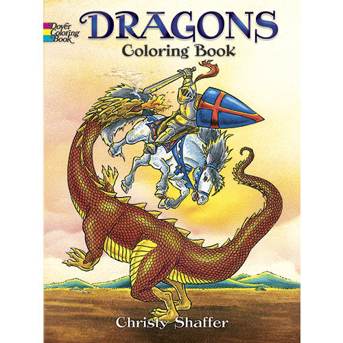 DOVER PUBLICATIONS COLORING BOOK: DRAGONS