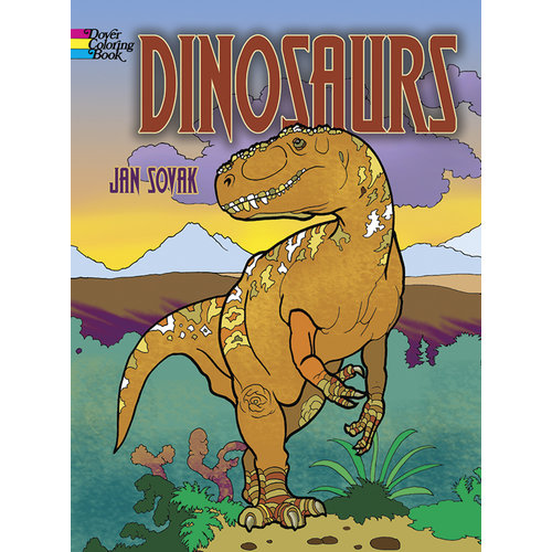 DOVER PUBLICATIONS COLORING BOOK: DINOSAURS