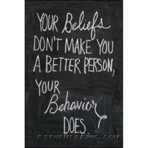 EPHEMERA MAGNET: YOUR BELIEFS DON'T
