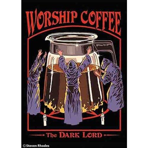 EPHEMERA MAGNET: WORSHIP COFFEE