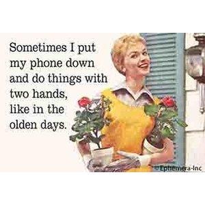 EPHEMERA MAGNET: SOMETIME I PUT MY PHONE