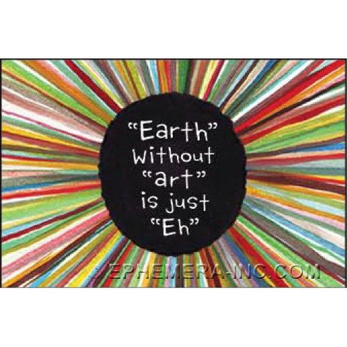 EPHEMERA MAGNET: EARTH WITHOUT ART