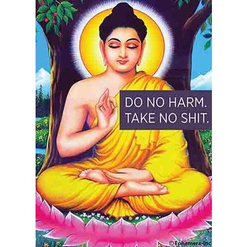 EPHEMERA MAGNET: DO NO HARM TAKE NO SHIT