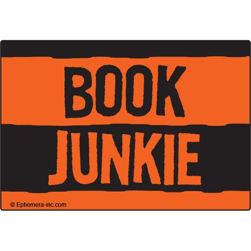 EPHEMERA MAGNET: BOOK JUNKIE