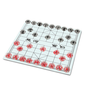 WOOD EXPRESSIONS CHINESE CHESS (XIANGQI) GLASS