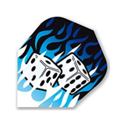MAGIC/A-Z DARTS FLIGHT BROKEN GLASS DICE BLUE (Set of 3)