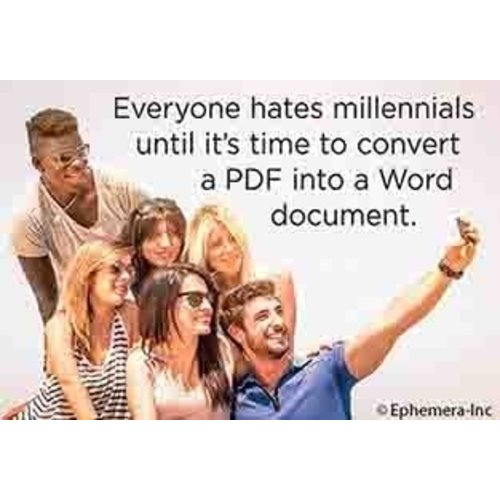 EPHEMERA MAGNET EVERYONE HATES MILLENIALS UNTIL