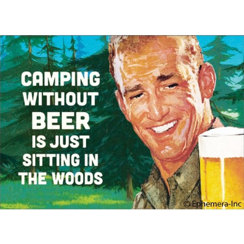EPHEMERA MAGNET CAMPING WITHOUT BEER