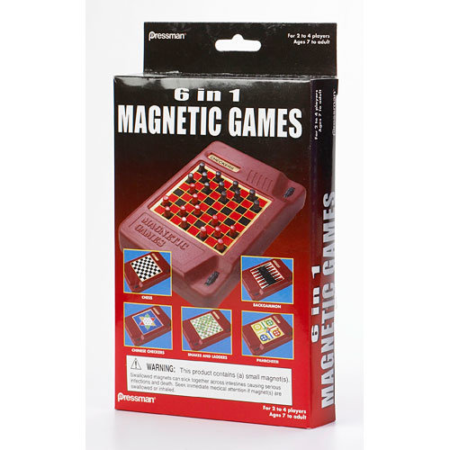GOLIATH/PRESSMAN/CONTINUUM TRAVEL 6 IN 1 MAGNETIC GAME SET