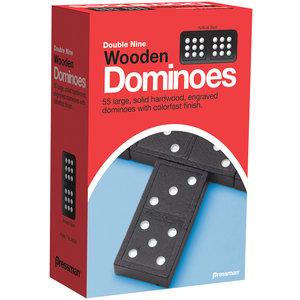 Pressman DOMINOES DOUBLE 9 WOOD