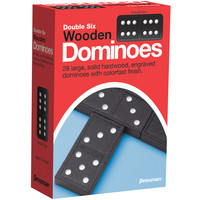DOMINOES DOUBLE 6 WOOD