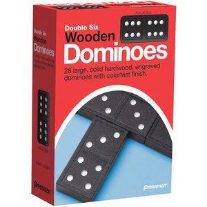 Pressman DOMINOES DOUBLE 6 WOOD
