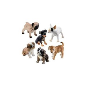 TOYSMITH GROUP BIN-PUPPY DOGS & KITTY CATS FIGURES