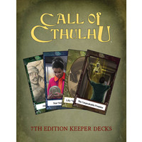 CALL OF CTHULHU RPG 7th ED KEEPERS DECK