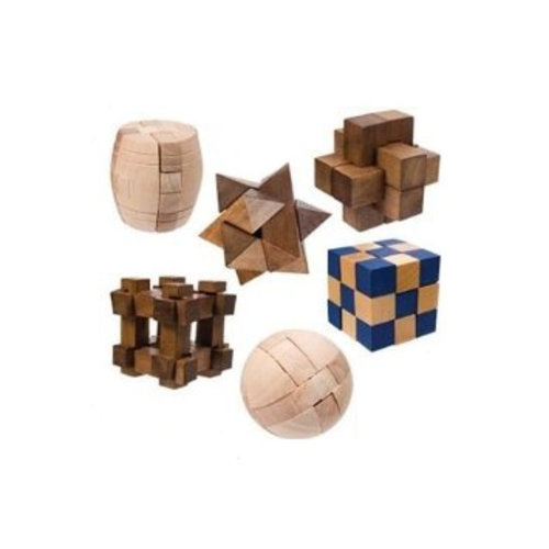 TOYSMITH GROUP 3D WOOD MINI PUZZLE ASSORTMENT