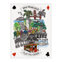 CITIES ILLUSTRATED: SAN FRANCISCO PLAYING CARDS