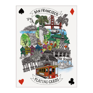 HACHETTE/CHRONICLE/MUDPUPPY CITIES ILLUSTRATED: SAN FRANCISCO PLAYING CARDS