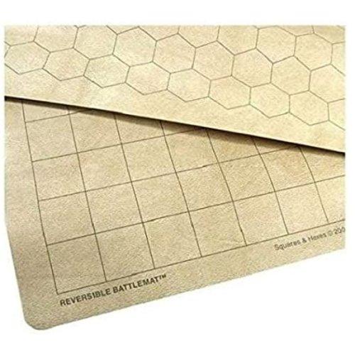 "Chessex REVERSIBLE BATTLEMAT - 1.5"" Squares & Hexes"
