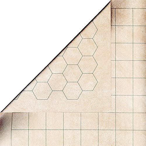 "Chessex REVERSIBLE BATTLEMAT - 1"" Squares & Hexes"