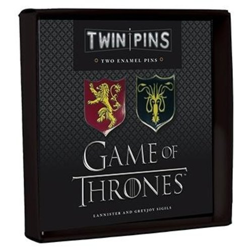 HACHETTE/CHRONICLE/MUDPUPPY PIN SET: GAME OF THRONES LANNISTER/GREYJOY