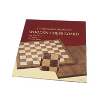 "CHESS BOARD 18"" WALNUT w/ 2"" SQUARES"