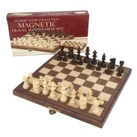 "CHESS SET 1.75"" WOOD on 11"" MAGNETIC BOARD"
