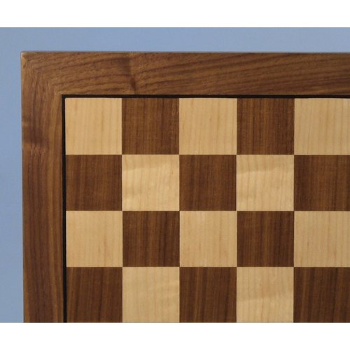 "Worldwise Imports CHESS BOARD 14"" WALNUT & MAPLE w/ 1.5"" SQ"