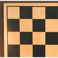 "CHESS BOARD 15"" WOOD & BLACK SILKSCREEN w/ 1.75"" SQUARES"