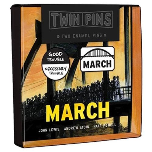 HACHETTE/CHRONICLE/MUDPUPPY PIN SET: MARCH