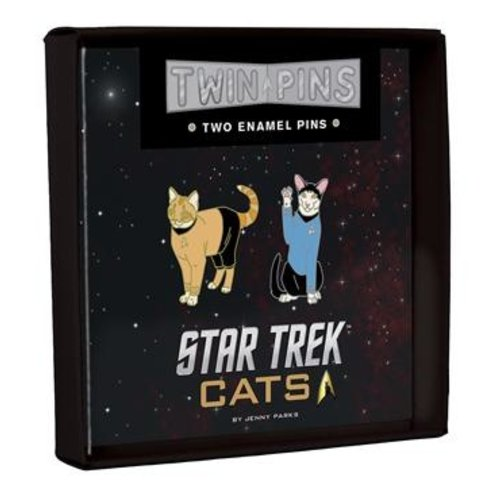 HACHETTE/CHRONICLE/MUDPUPPY PIN SET: STAR TREK CATS