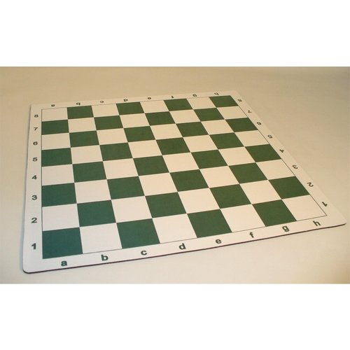 """Worldwise Imports CHESS BOARD 20"""" ROLL UP MAT w/ 2.25"""" SQUARES (Tournament Dimensions)"""