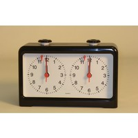 CHESS CLOCK ANALOG QUARTZ MOVEMENT BLACK