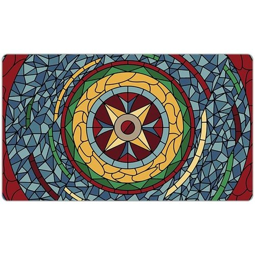 INKED GAMING PLAYMAT: STAINED GLASS - RED