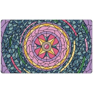 INKED GAMING PLAYMAT: STAINED GLASS - PINK