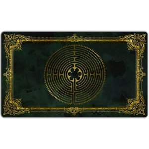 INKED GAMING PLAYMAT: LABYRINTH: CHARLEMAGNE - DARK GREEN / GOLD