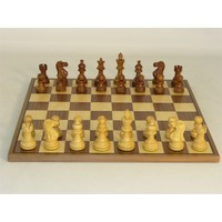 "CHESS SET 3"" AMERICAN EMP on 14""/1.5"" BOARD"