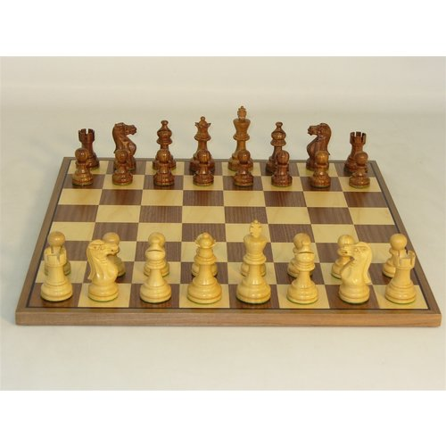 "Worldwise Imports CHESS SET 3"" AMERICAN EMP on 14""/1.5"" BOARD"