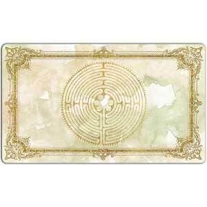 INKED GAMING PLAYMAT: LABYRINTH: BENEDICTUS - WHITE
