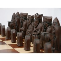 "CHESSMEN 3.5"" ISLE OF LEWIS MARBLE & RESIN"