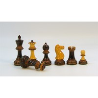"CHESSMEN 3.75"" PARKER BURNT BOXWOOD w/ 2Q"