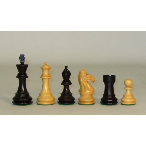 "Worldwise Imports CHESSMEN 3.75"" CHEVALIER BLACK & NATURAL BOXWOOD"