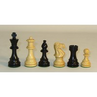 "CHESSMEN 3.75"" LARDY CLASSIC BLACK & NATURAL BOXWOOD"