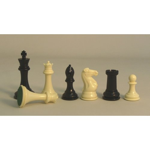 "Worldwise Imports CHESSMEN 4"" TOURNAMENT PLASTIC TRIPLE WEIGHTED"
