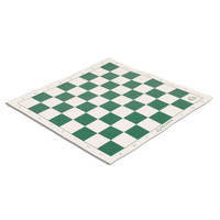 "CHESS BOARD GREEN VINYL w/ 2.25"" SQ"