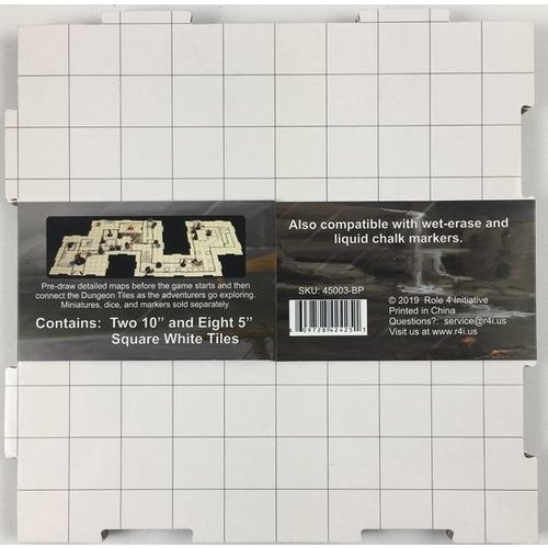 Role 4 Initiative DRY ERASE DUNGEON TILES: BOOSTER PACK - WHITE