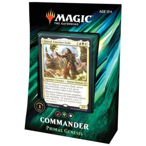 Wizards of the Coast MTG: 2019 - PRIMAL GENESIS - COMMANDER DECK