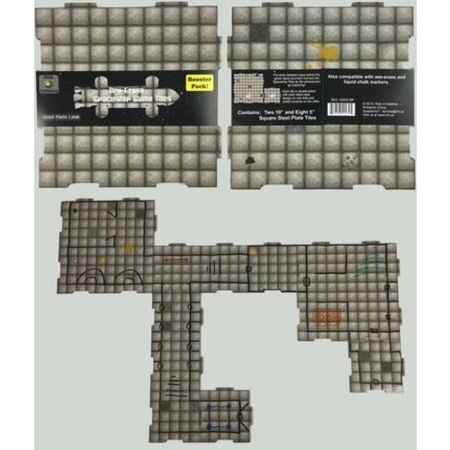 Role 4 Initiative DRY ERASE DUNGEON TILES: BOOSTER PACK - STEEL PLATE